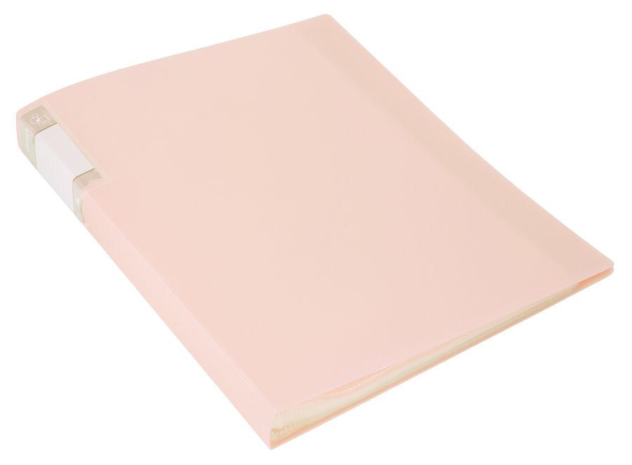 Папка с 60 прозр.вклад. Бюрократ Gems GEM60CREAM A4 пластик 0.7мм торц.карм с бум. встав кремовый же