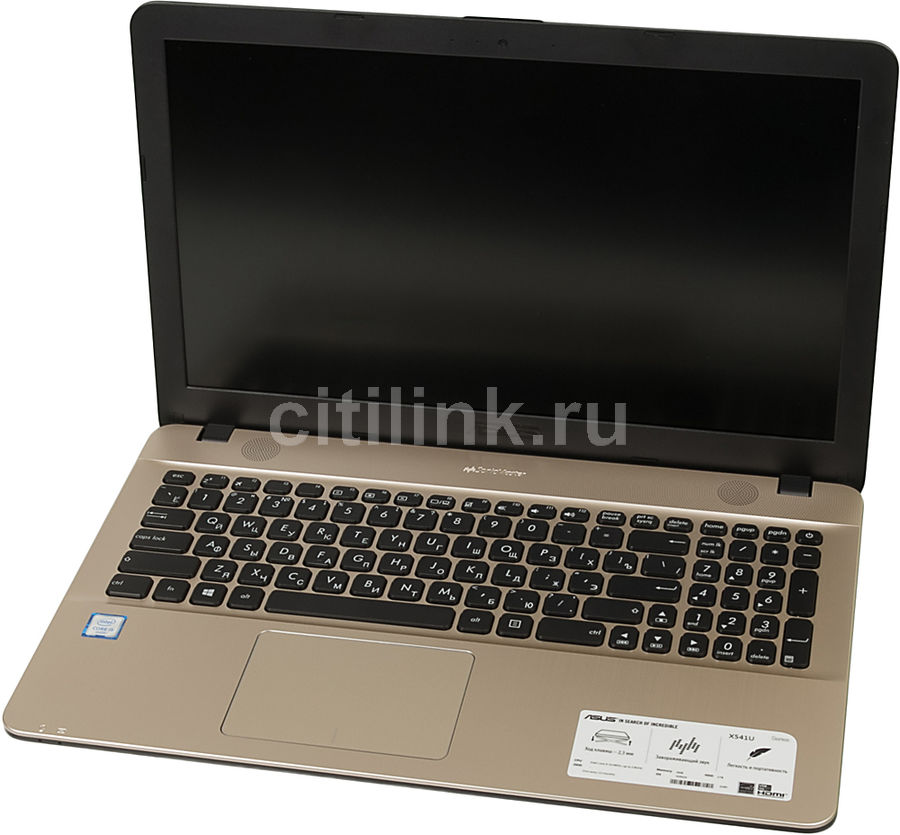 Ноутбук ASUS X541UA-DM517T, 15.6, Intel Core i5 6198D 2.3ГГц, 4Гб, 1000Гб, Intel HD Graphics 510, Windows 10, черный [90nb0cf1-m29120]Ноутбуки<br>экран: 15.6;  разрешение экрана: 1920х1080; процессор: Intel Core i5 6198D; частота: 2.3 ГГц (2.8 ГГц, в режиме Turbo); память: 4096 Мб, DDR4; HDD: 1000 Гб, 5400 об/мин; Intel HD Graphics 510; WiFi;  Bluetooth; HDMI; WEB-камера; Windows 10<br>
