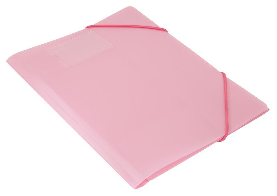 Папка на резинке Бюрократ Gems GEMPR05PIN A4 пластик кор.30мм 0.5мм розовый аметист карман для визит