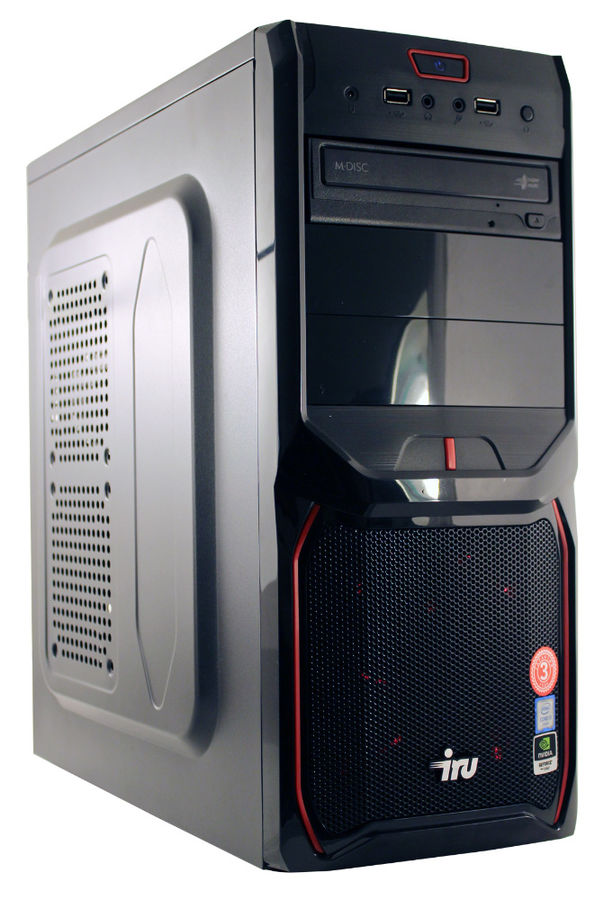 Компьютер  IRU Corp 324,  AMD  FX  4300,  DDR3 4Гб, 500Гб,  NVIDIA GeForce GT1030 - 2048 Мб,  Free DOS,  черный [1014887]