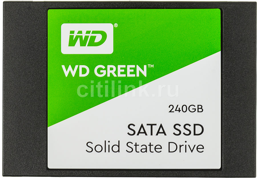 "SSD накопитель WD Green WDS240G2G0A 240Гб, 2.5"", SATA III"