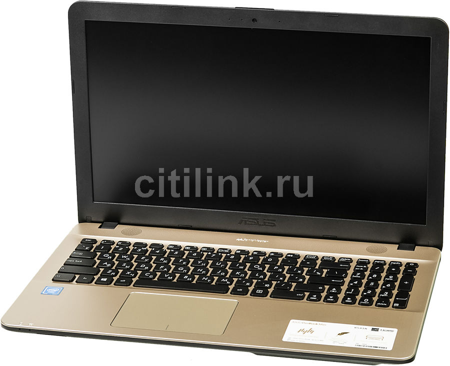 Ноутбук ASUS R541NA-GQ418T, 15.6, Intel Celeron N3350 1.1ГГц, 4Гб, 500Гб, Intel HD Graphics 500, Windows 10, черный [90nb0e81-m07720]Ноутбуки<br>экран: 15.6;  разрешение экрана: 1366х768; процессор: Intel Celeron N3350; частота: 1.1 ГГц (2.4 ГГц, в режиме Turbo); память: 4096 Мб, DDR3L; HDD: 500 Гб, 5400 об/мин; Intel HD Graphics 500; WiFi;  Bluetooth; HDMI; WEB-камера; Windows 10<br>
