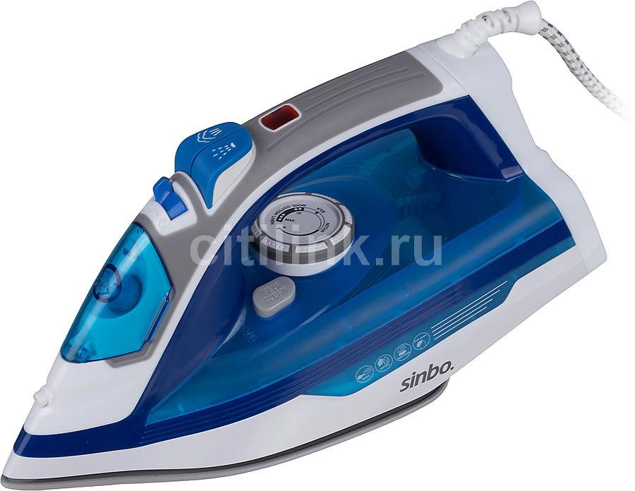 Утюг Sinbo SSI 2899 2200Вт синий (мех.повреждения)