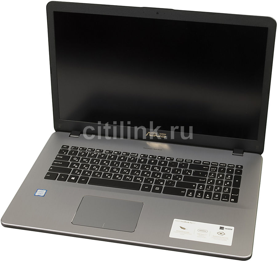 Ноутбук ASUS N705UD-GC014T, 17.3, Intel Core i5 7200U 2.5ГГц, 8Гб, 1000Гб, nVidia GeForce GTX 1050 - 2048 Мб, Windows 10, 90NB0GA1-M01030, темно-серый ноутбук dell xps 15 15 6 intel core i5 6300hq 2 3ггц 8гб 1000гб 32гб ssd nvidia geforce gtx 960m 2048 мб windows 10 professional 9550 2334 серебристый