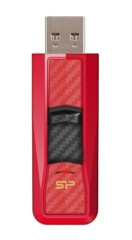 Флешка USB SILICON POWER Blaze B50 32Гб, USB3.0, красный [sp032gbuf3b50v1r]