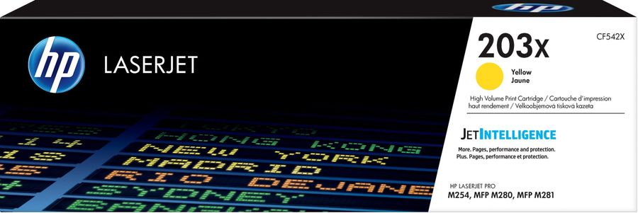Картридж HP 203X, желтый [cf542x]
