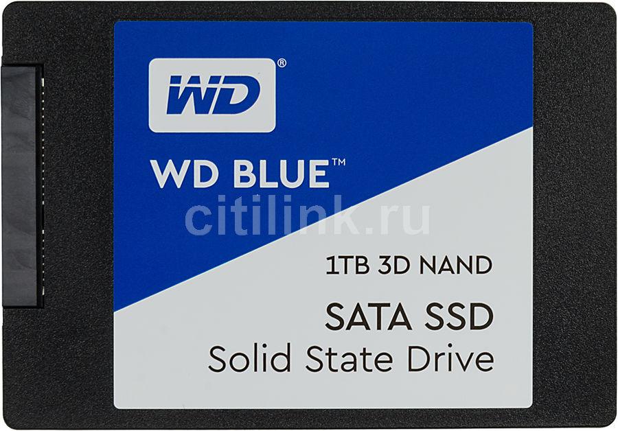 """SSD накопитель WD Blue WDS100T2B0A 1Тб, 2.5"""", SATA III"""