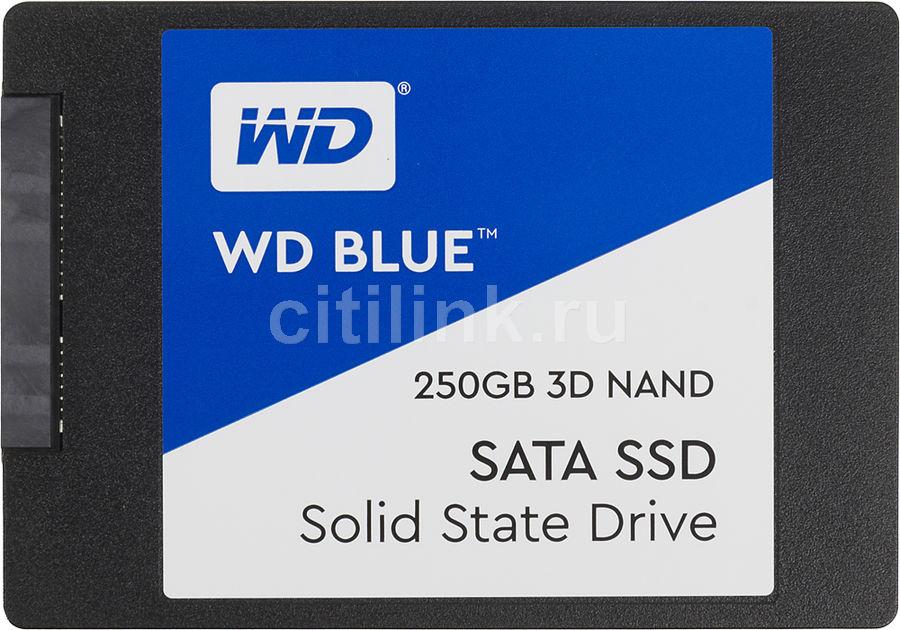 """SSD накопитель WD Blue WDS250G2B0A 250Гб, 2.5"""", SATA III"""