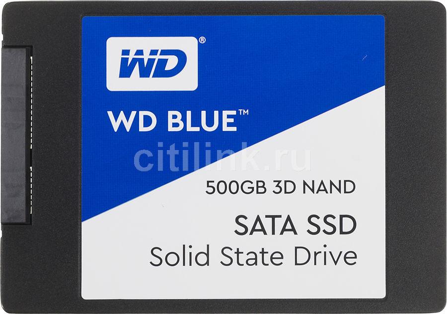 """SSD накопитель WD Blue WDS500G2B0A 500Гб, 2.5"""", SATA III"""