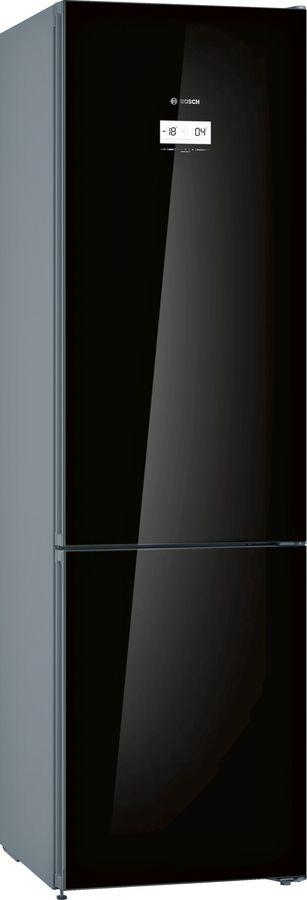 Холодильник BOSCH KGN39JB3AR,  двухкамерный,  черное стекло