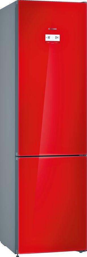 Холодильник BOSCH KGN39JR3AR,  двухкамерный,  красное стекло