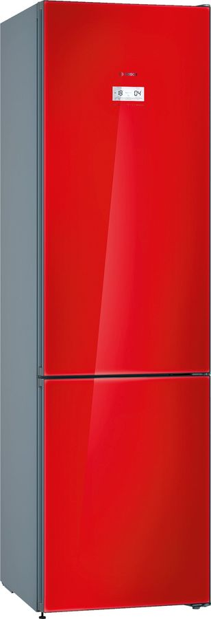 Холодильник BOSCH KGN39LR3AR,  двухкамерный,  красное стекло