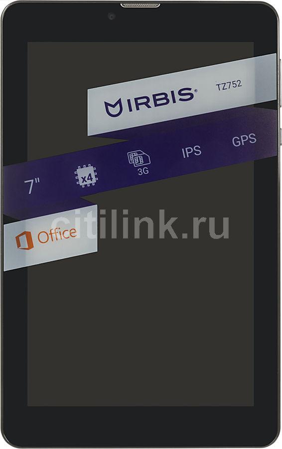 Планшет IRBIS TZ752,  1GB, 16GB, 3G,  Android 7.0 черный