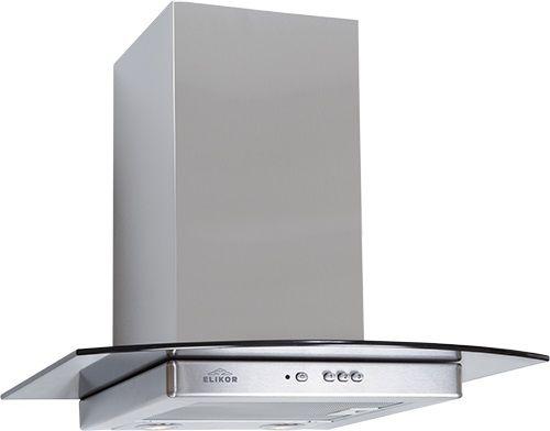 Вытяжка каминная Elikor Кристалл 50Н-430-К3Д нержавеющая сталь/тонированное стекло управление: кнопо