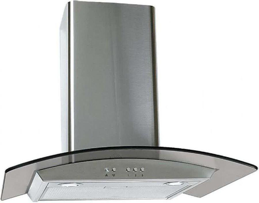 Вытяжка каминная Elikor Аметист 60Н-430-К3Д нержавеющая сталь/тонированное стекло управление: кнопоч