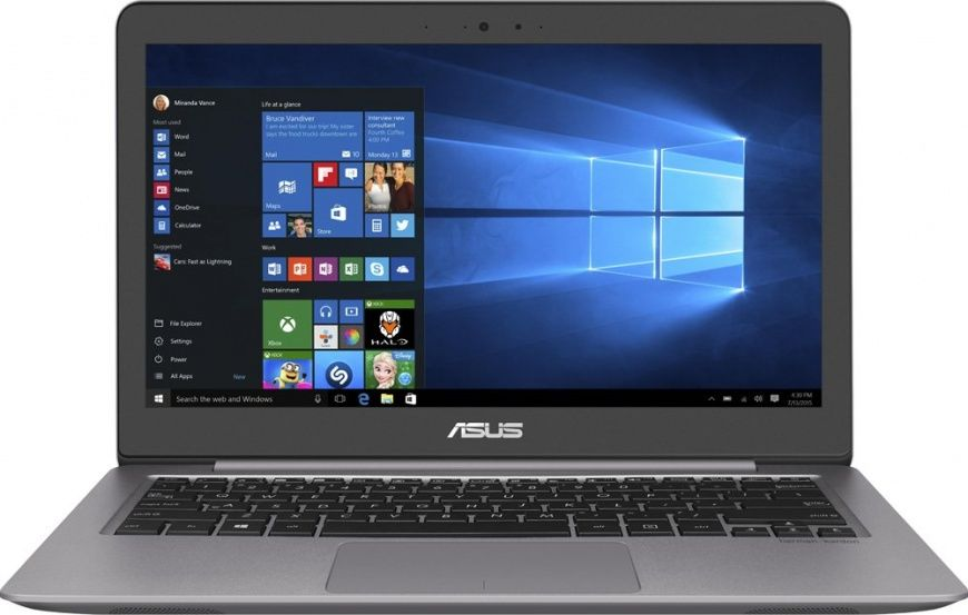Ноутбук ASUS Zenbook UX310UF-FC004T, 13.3, Intel Core i5 8250U 1.6ГГц, 8Гб, 256Гб SSD, nVidia GeForce Mx130 - 2048 Мб, Windows 10, 90NB0HY1-M00340, серый ноутбук lenovo deapad 310 15 6 1920x1080 intel core i3 6100u 500gb 4gb nvidia geforce gt 920mx 2048 мб серебристый windows 10 80sm00vqrk