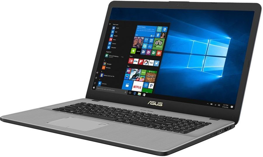 Ноутбук ASUS N705UD-GC181T, 17.3, Intel Core i7 8550U 1.8ГГц, 16Гб, 2Тб, 256Гб SSD, nVidia GeForce GTX 1050 - 2048 Мб, Windows 10, 90NB0GA1-M02690, темно-серыйНоутбуки<br>экран: 17.3;  разрешение экрана: 1920х1080; процессор: Intel Core i7 8550U; частота: 1.8 ГГц (4.0 ГГц, в режиме Turbo); память: 16384 Мб, DDR4; HDD: 2000 Гб, 5400 об/мин; SSD: 256 Гб; nVidia GeForce GTX 1050 - 2048 Мб; WiFi;  Bluetooth; HDMI; WEB-камера; Windows 10<br>