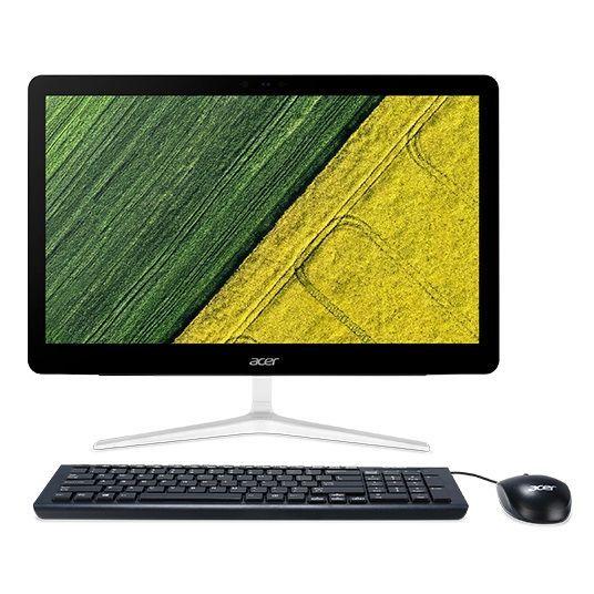 """Моноблок ACER Aspire Z24-880, 23.8"""", Intel Core i7 7700T, 8Гб, 16Гб Intel Optane,  1000Гб, NVIDIA GeForce 940MX - 2048 Мб, DVD-RW, Windows 10 Home, серебристый [dq.b8ter.021]"""