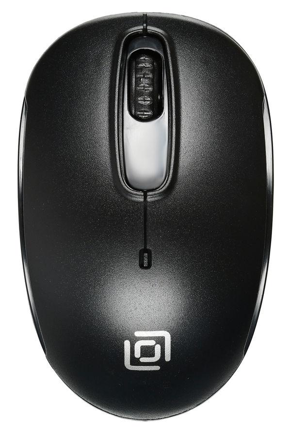 Мышь OKLICK 505MW, оптическая, беспроводная, USB, черный