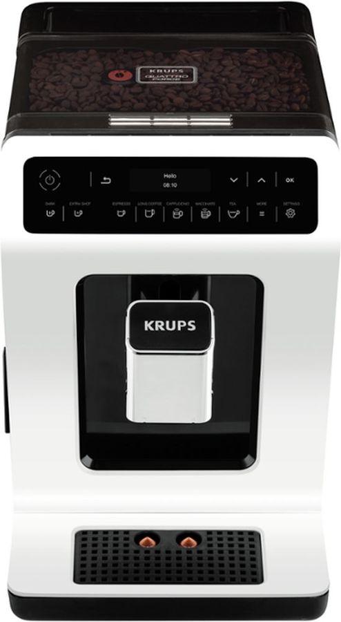 Кофемашина KRUPS EA890110,  белый/черный