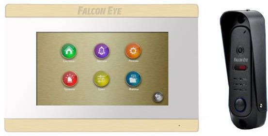 Видеодомофон FALCON EYE FE-ARIES +FE311A, белый falcon eye fe 70ch orion видеодомофон white