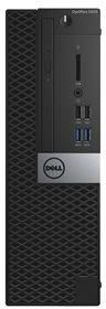 Компьютер DELL Optiplex 5050, Intel Core i5 6500, DDR4 8Гб, 500Гб, Intel HD Graphics 530, DVD-RW, Windows 10 Professional, черный [5050-2554] компьютер dell optiplex 7050 intel core i5 6500t ddr4 8гб 1000гб intel hd graphics 530 windows 10 professional черный [7050 2592]