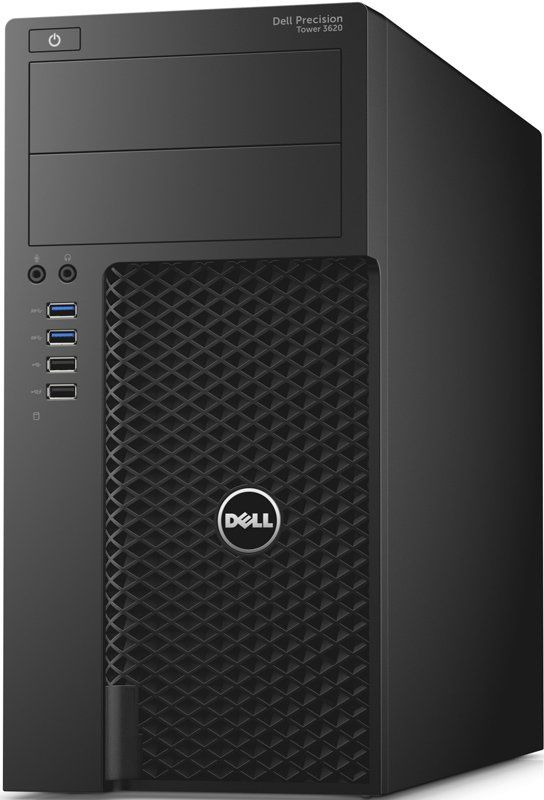 Рабочая станция DELL Precision 3620, Intel Core i5 6500, DDR4 8Гб, 256Гб(SSD), NVIDIA Quadro P400 - 2048 Мб, DVD-RW, Windows 10 Professional, черный [3620-2646] ssd dell 400 aqnv