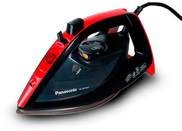 Утюг PANASONIC NI-WT960RTW,  2600Вт,  черный/ красный