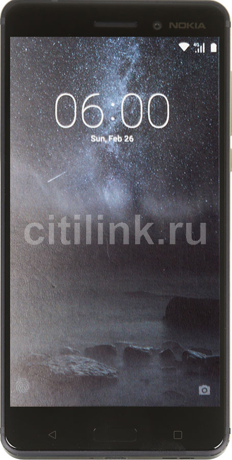 Смартфон NOKIA 6 Dual Sim, черный motorola pulse 2 wired black