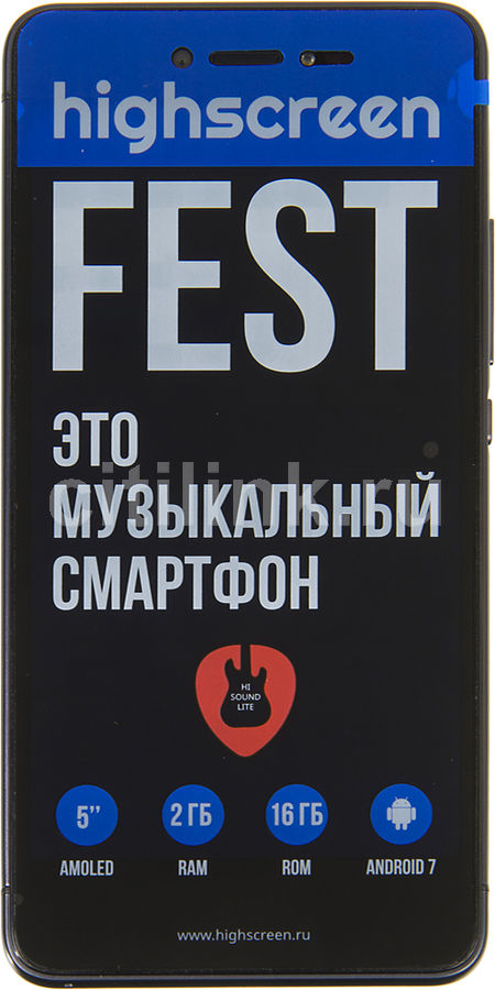 Смартфон HIGHSCREEN Fest, черный