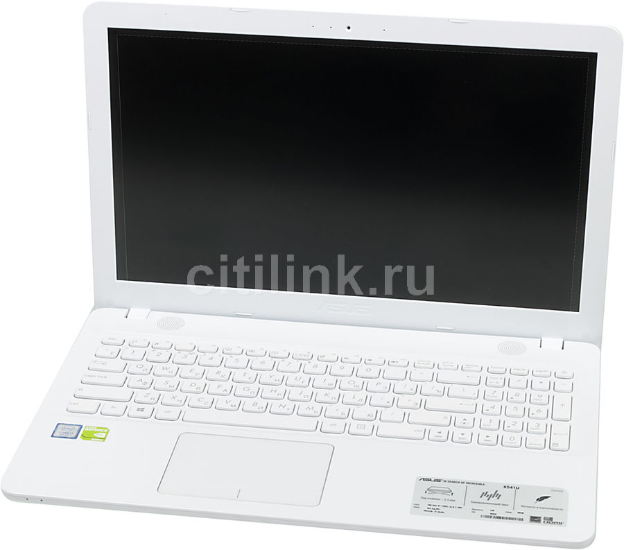 Ноутбук ASUS X541UV-DM1402T, 15.6, Intel Core i5 7200U 2.5ГГц, 4Гб, 500Гб, nVidia GeForce 920MX - 2048 Мб, DVD-RW, Windows 10, белый [90nb0cg2-m20460]Ноутбуки<br>экран: 15.6;  разрешение экрана: 1920х1080; процессор: Intel Core i5 7200U; частота: 2.5 ГГц (3.1 ГГц, в режиме Turbo); память: 4096 Мб, DDR4; HDD: 500 Гб, 5400 об/мин; nVidia GeForce 920MX - 2048 Мб; DVD-RW; WiFi;  Bluetooth; HDMI; WEB-камера; Windows 10<br>