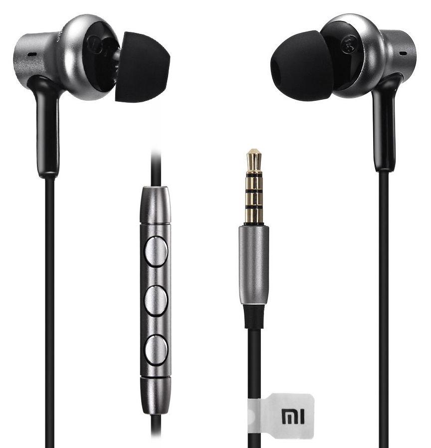 Наушники с микрофоном XIAOMI Mi in-Ear Pro HD, 3.5 мм, вкладыши, серебристый/черный [zbw4369ty]