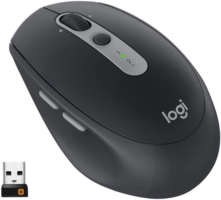 Мышь LOGITECH M590 Silent оптическая беспроводная USB, темно-серый [910-005197]