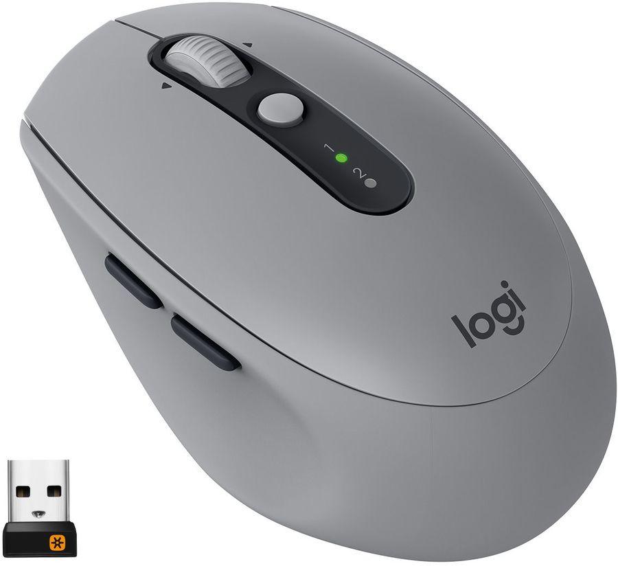 Мышь LOGITECH M590 Silent оптическая беспроводная USB, серый [910-005198]