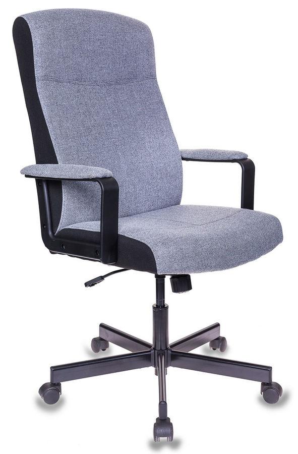 Кресло руководителя БЮРОКРАТ DOMINUS, на колесиках, ткань, серый [dominus-fg]