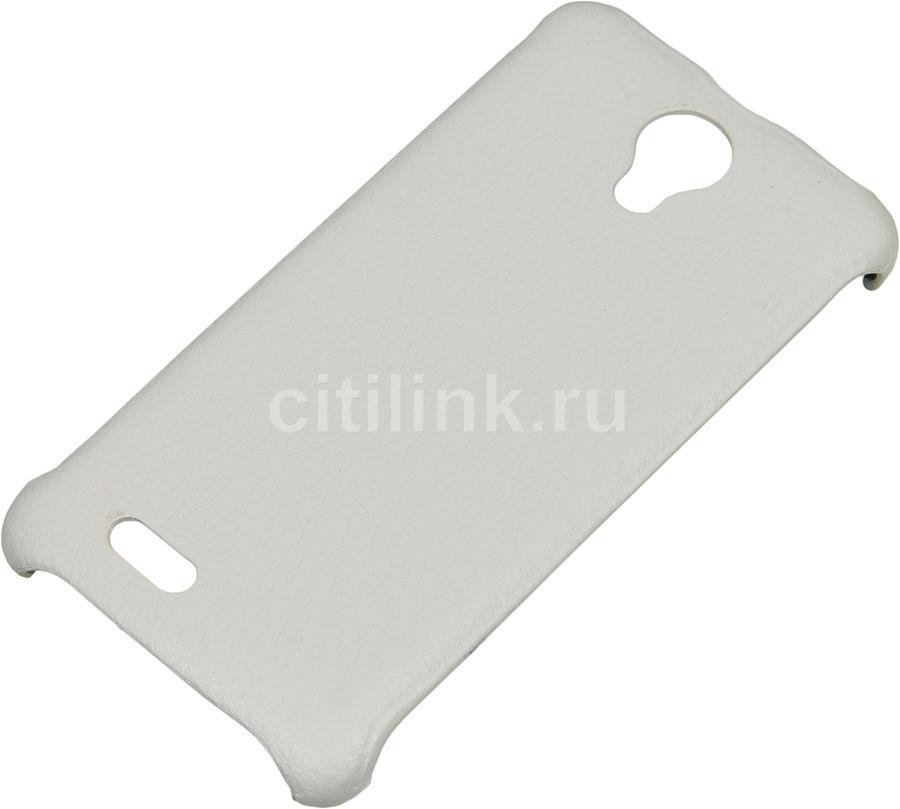 Чехол (клип-кейс)  skinBOX Leather Shield, для Digma Q400 3G HIT, белый [t-s-dq4003gh-009]