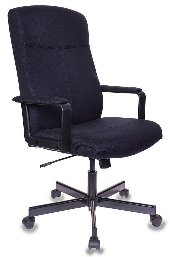 Кресло руководителя БЮРОКРАТ DOMINUS-FB, на колесиках, ткань, черный
