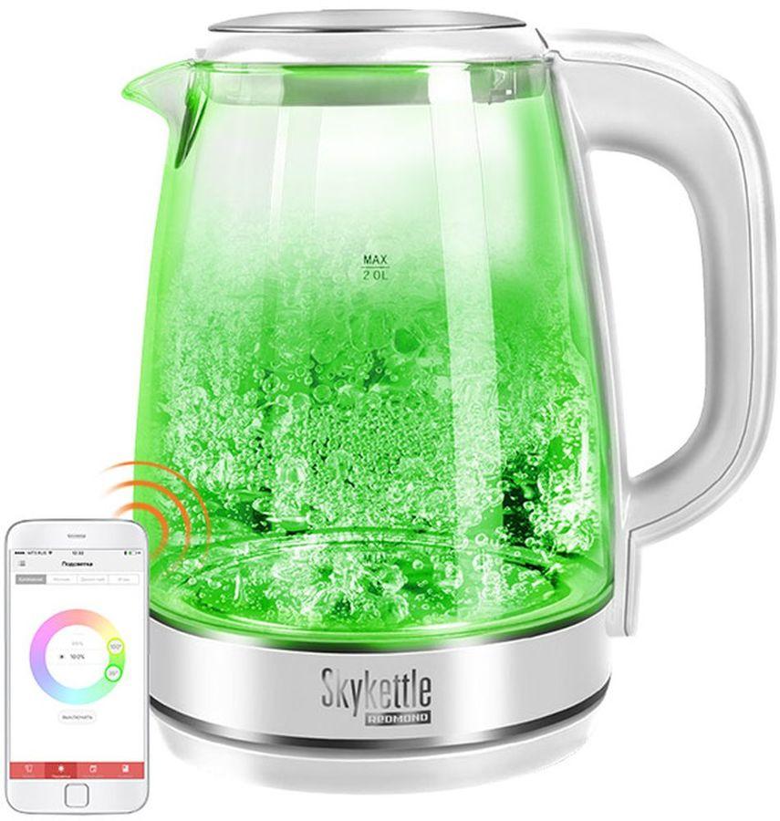 Чайник электрический REDMOND RK-G201S SkyKettle, 2200Вт, белый