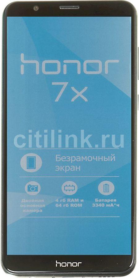 Купить Смартфон HONOR 7X 64Gb, черный по выгодной цене в интернет-магазине  СИТИЛИНК e2f62567e1d