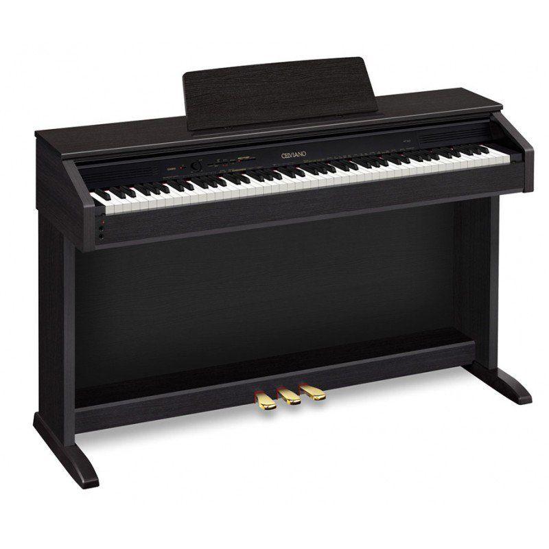 Цифровое фортепиано CELVIANO CASIO AP-270BK, 88, полновзвешенная, полноразмерные, 192, черный