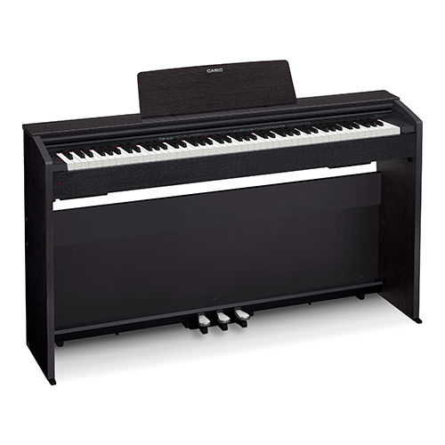 Цифровое фортепиано PRIVIA CASIO PX-870BK, 88, полновзвешенная, полноразмерные, 256, черный