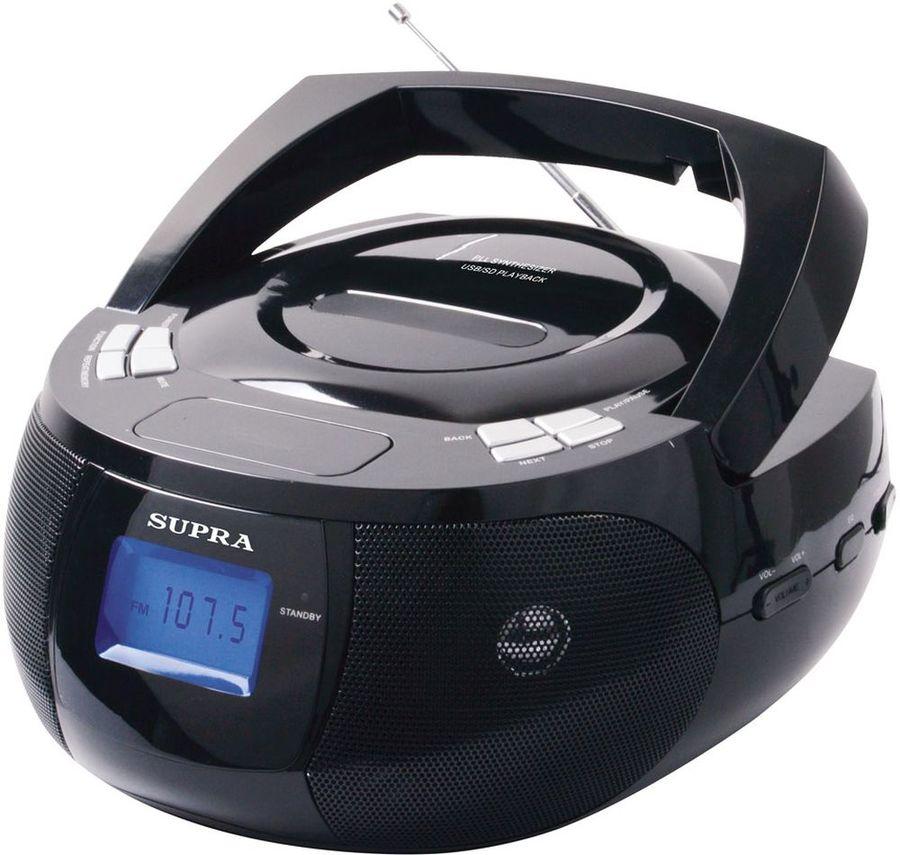 Аудиомагнитола SUPRA BB-33MUS,  черный