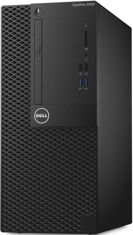 Компьютер DELL Optiplex 3050, Intel Core i5 6500, DDR4 4Гб, 500Гб, Intel HD Graphics 530, DVD-RW, Windows 10 Professional, черный [3050-6324] компьютер dell optiplex 7050 intel core i5 6500 ddr4 8гб 256гб ssd intel hd graphics 530 dvd rw windows 10 professional черный и серебристый [7050 2585]