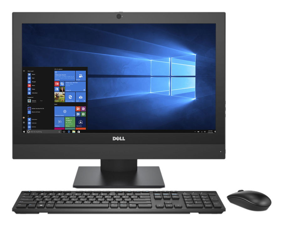 "Моноблок DELL Optiplex 5250, 21.5"", Intel Core i3 6100, 4Гб, 500Гб, Intel HD Graphics 530, DVD-RW, Windows 10 Professional, черный [5250-2608]"