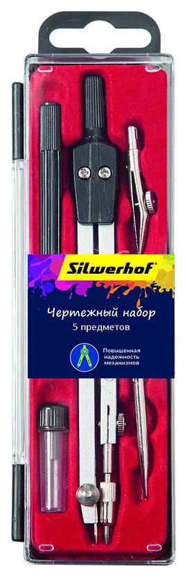 Готовальня Silwerhof 540120 в компл.:5 предметов