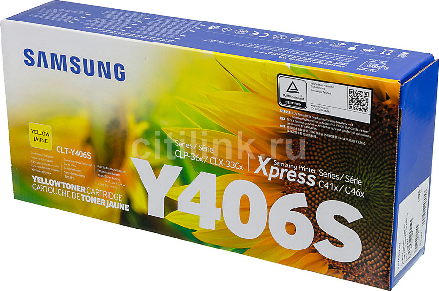 Картридж SAMSUNG CLT-Y406S, желтый [su464a]