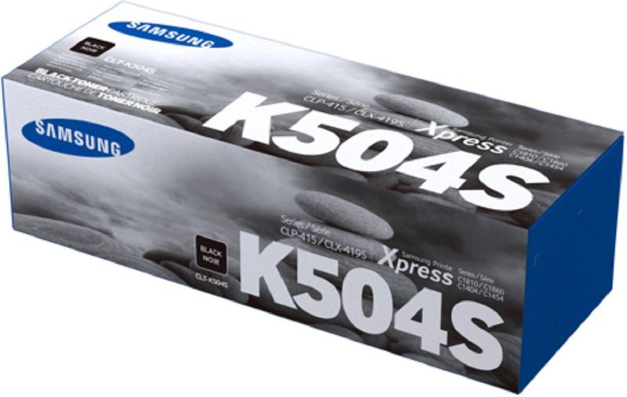 Картридж SAMSUNG CLT-K504S, черный [su160a]