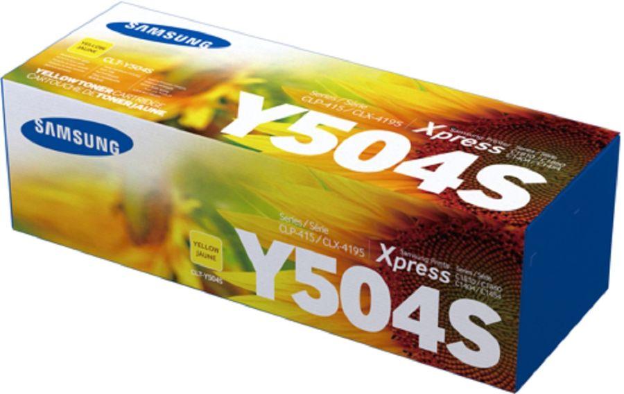 Картридж SAMSUNG CLT-Y504S, желтый [su504a]