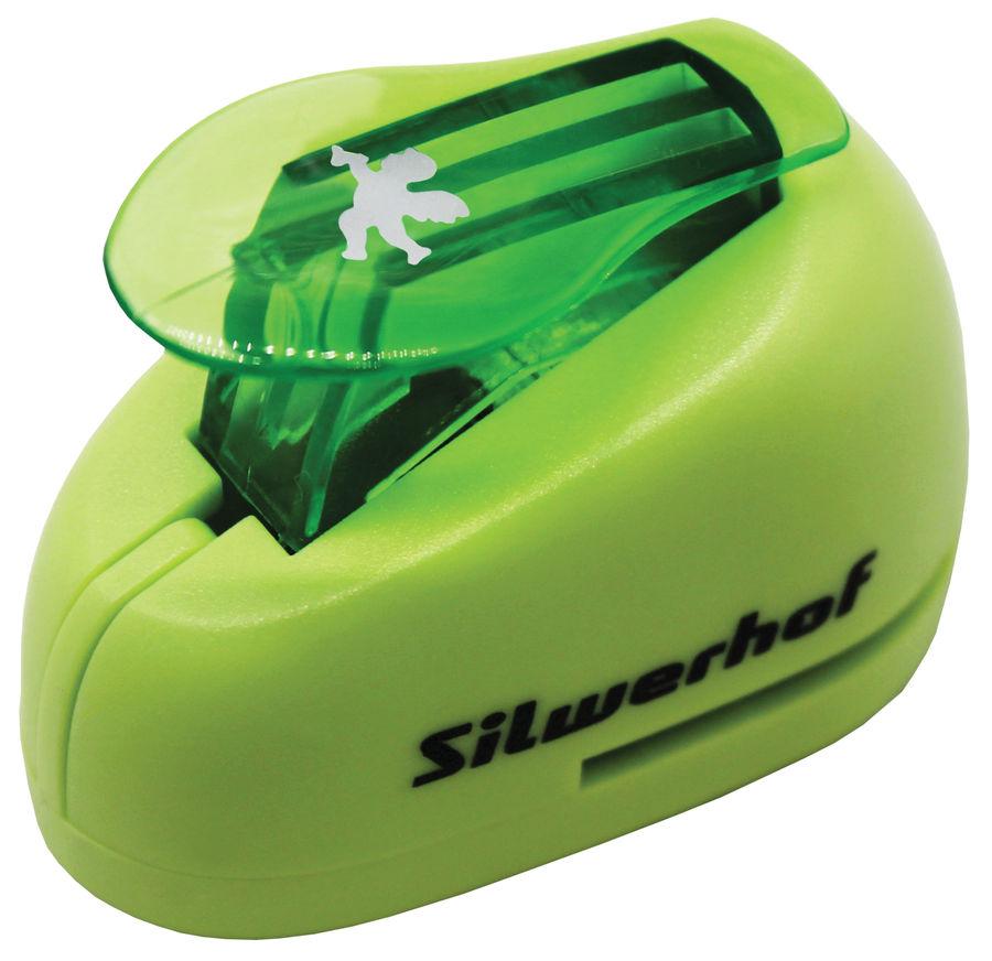 Дырокол Silwerhof Ангел 394032 пластик зеленый отв.:1