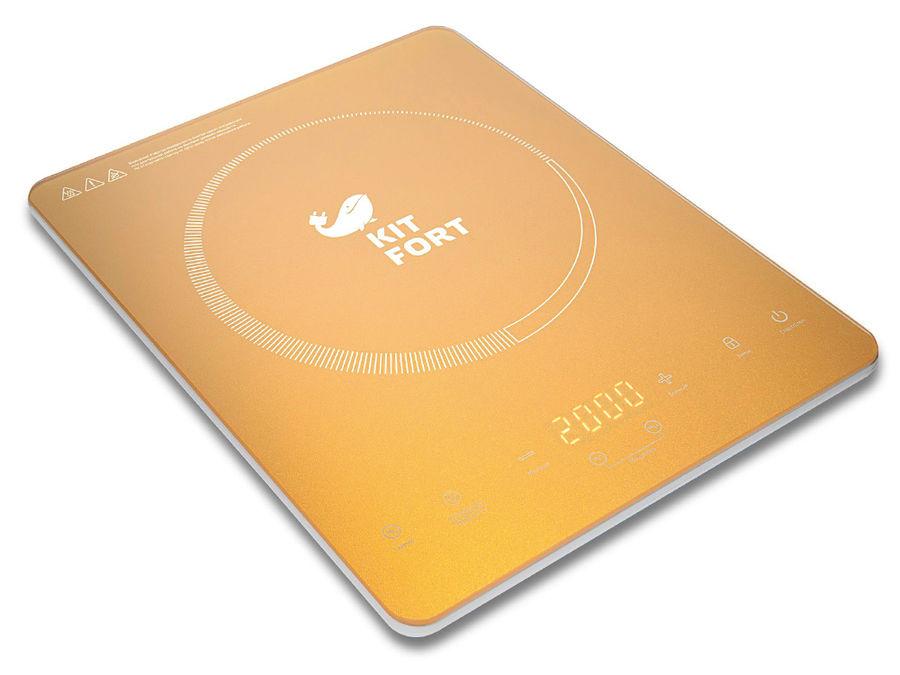 Электрическая плита KITFORT КТ-110-1,  золотистый